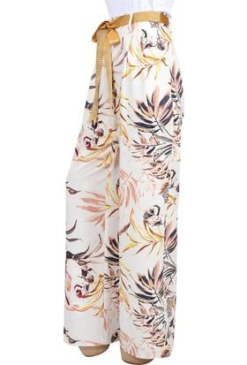 Lafaba Desenli Sarı Pantolon