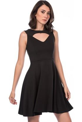 Lafaba Dekolteli Siyah Elbise