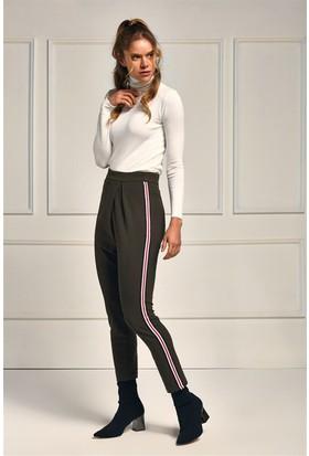 Lafaba Haki Yanları Şeritli 92 Cm Pantolon