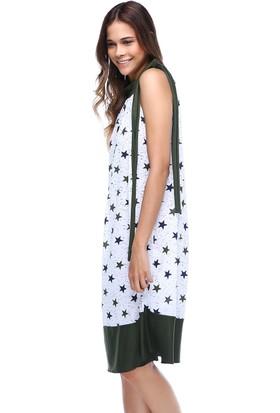 Quincey Yıldız Desenli Elbise