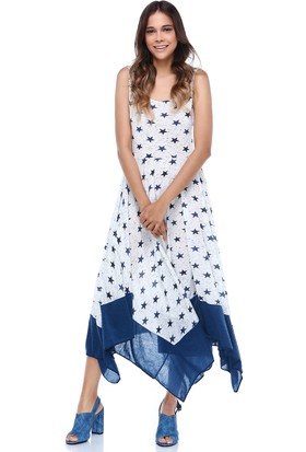 Quincey Yıldızlı Asimetrik Elbise