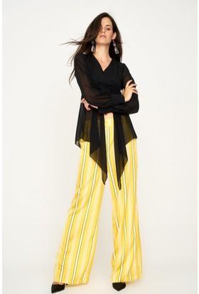 Lafaba Çizgili Sarı Pantolon
