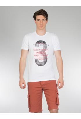 Colins Beyaz Erkek Tshirt