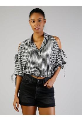 Colins Siyah Kadın Gömlek