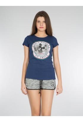 Colins Mavi Kadın Tshirt