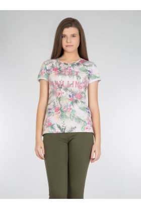 Colins Renkli Kadın Tshirt