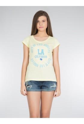 Colins Sarı Kadın Tshirt