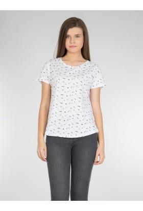 Colins Beyaz Kadın Tshirt