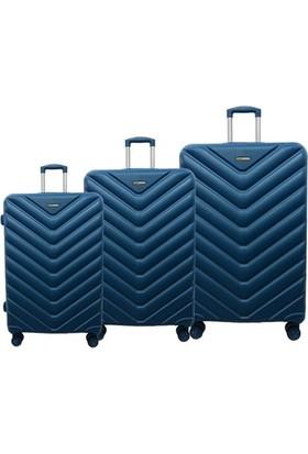 Ehs 5161 Abs 3'Lü Valiz Seti Mavi