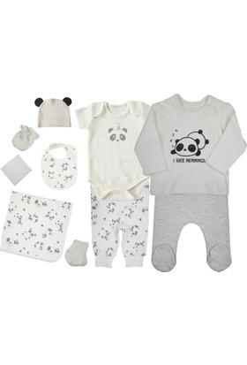 Baby Corner Panda 10'lu Bebek Hastane Çıkışı Seti - Gri