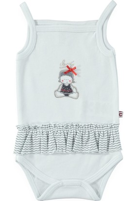 Carmin Baby Denizci Askılı Body - Beyaz