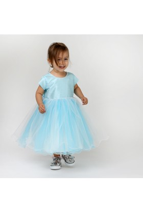 Chatondor Fiyonklu Elbise - Açık Mavi