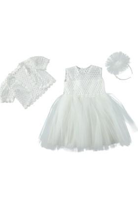 Chatondor Bolerolu Elbise - Beyaz