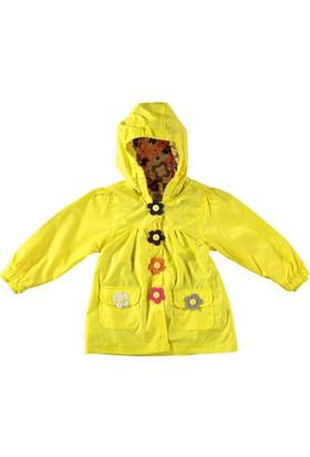 Midimod Çiçekli Yağmurlu Kız Bebek 5 Yaş - Sarı