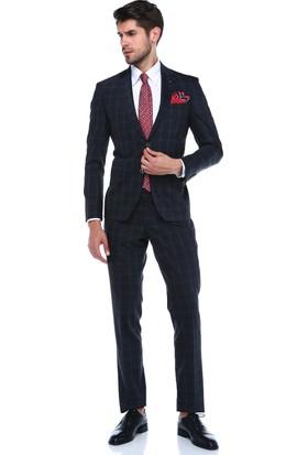 Centone Dar Kesim Yelekli Takım Elbise -18-0043