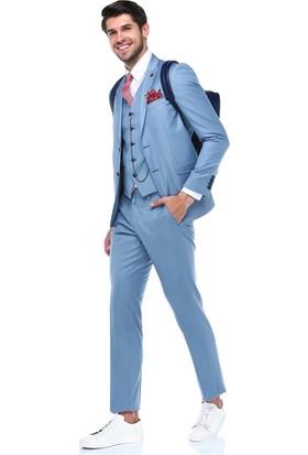 Centone Dar Kesim Yelekli Takım Elbise -18-0069