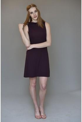 Mela D'oro Kadın Tiffany Yaka Kolsuz Elbise