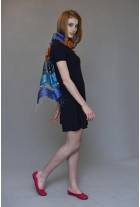 Mela D'oro Kadın Kısa Kol Çan Etekli Elbise