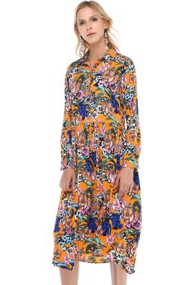 Cream&Rouge 18Y220 Gömlek Elbise