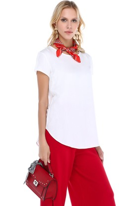 Cream&Rouge 18Y247 Basic Yuvarlak Yaka T-Shirt