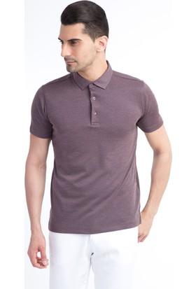 Kiğılı Yarım İtalyan Yaka Slim Fit T-Shirt