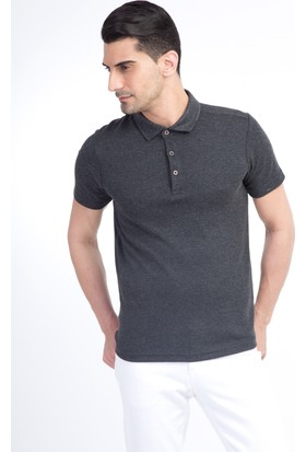 Kiğılı Yarım İtalyan Yaka Düz Slim Fit T-Shirt