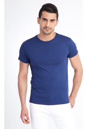 Kiğılı Bisiklet Yaka Slim Fit T-Shirt