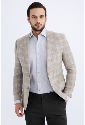 Kiğılı İtalyan Ekose Ceket