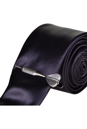 Bigg Fashion Dart Kravat İğnesi Dark Silver