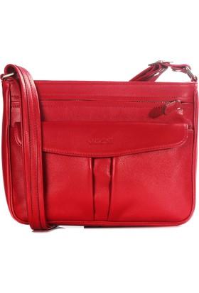Guzini Verona Kırmızı Deri Çanta