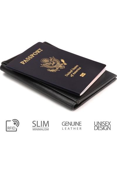 OTTO OT142 Hakiki Deri Pasaport Kılıfı - Seyahat Cüzdanı