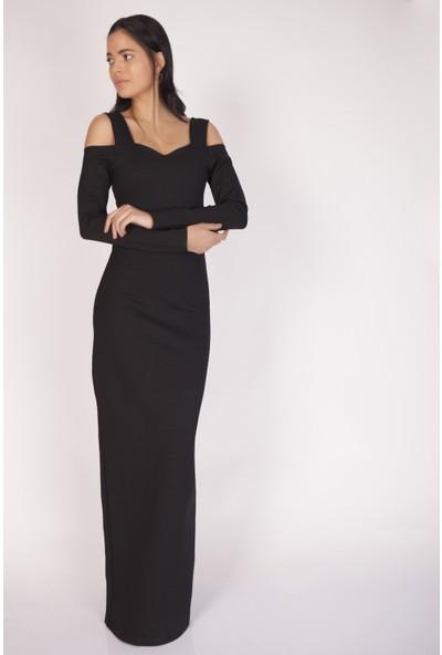 Cream&Rouge 15K084 Omuz Dokelteli Elbise