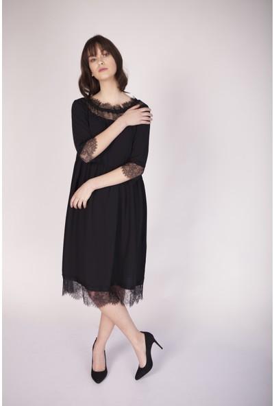 Cream&Rouge 17Y169 Dantelli Elbise