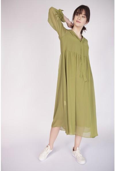 Cream&Rouge 17Y301 Boyundan Bağlamalı Elbise