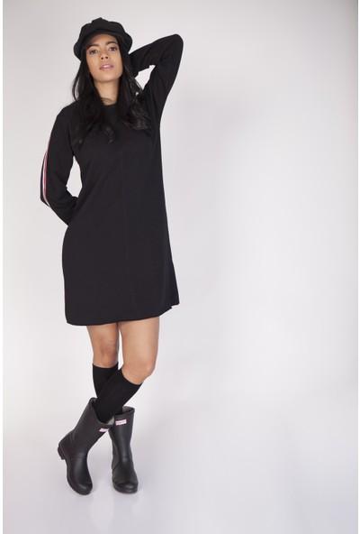 Cream&Rouge 17Y369 Kolları Şeritli Elbise