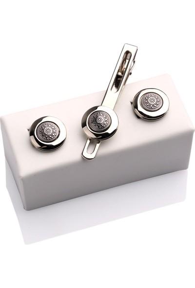La Pescara Kol Düğmesi Ve Kravat İğnesi Set Kd320