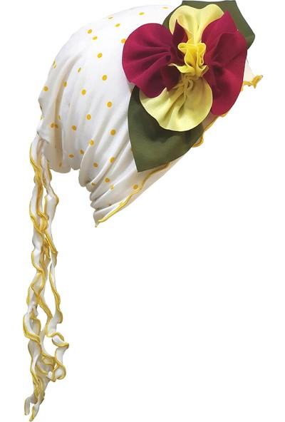 Babygiz Sarı Puantiyeli Şapka
