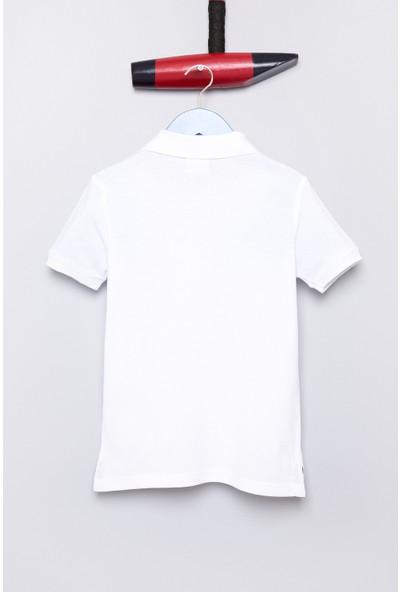 U.S. Polo Assn. Erkek Çocuk TP01IY7 T-Shirt Beyaz