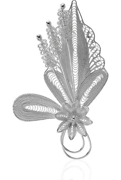 Misiny Buket Gümüş Telkari Broş