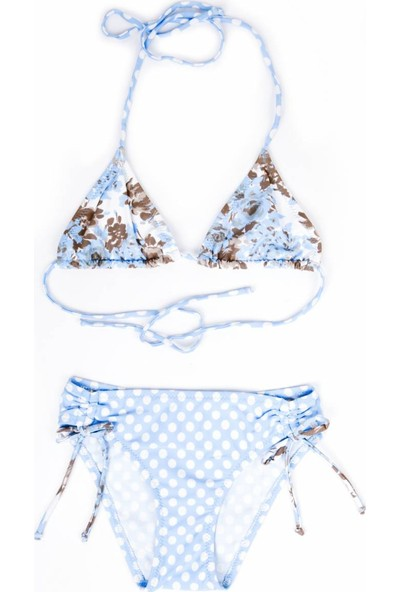 Ayyıldız 23869 Klasik Üçgen Bikini Açık Mavi
