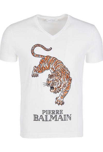 Pierre Balmain Erkek V Yaka Tshirt Hp68203Ta8285