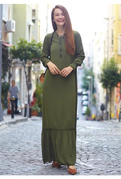 Femme Kadın Haki Elbise FM5498