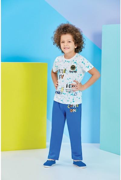 RolyPoly Kısa Kollu Erkek Çocuk Pijama Takımı Krem