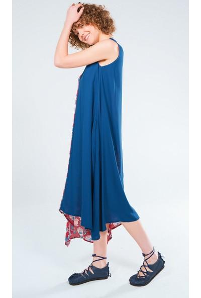 Clandestino Asimetrik Uzun Elbise