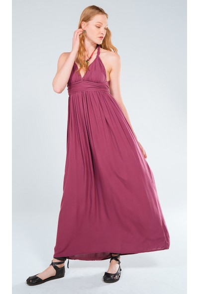 Clandestino Robalı Uzun Elbise