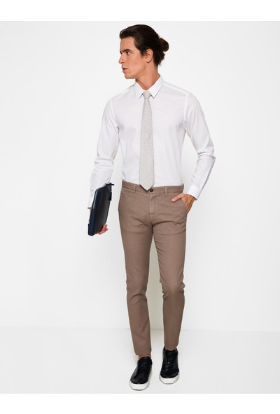 Cacharel 50187020-Xx7604 Erkek Keten Pantolon