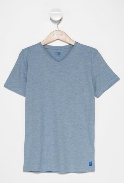 Defacto Erkek Çocuk V Yaka Rahat Kesim T-Shirt