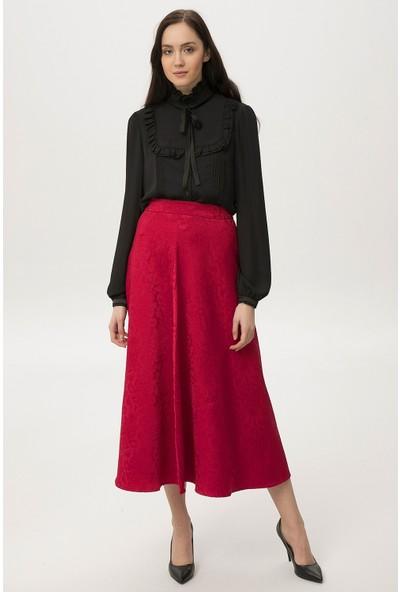 New Laviva Kırmızı Kadın Uzun Etek