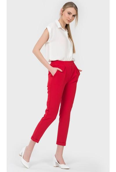 İroni Kırmızı Jogger Pantolon 1671891 Kırmızı