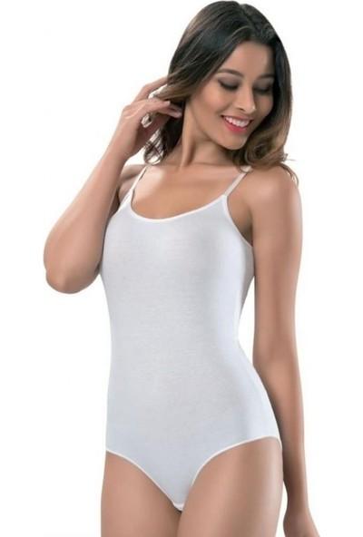 Tutku 6'lı Paket 0148 İp Askılı Kadın Body